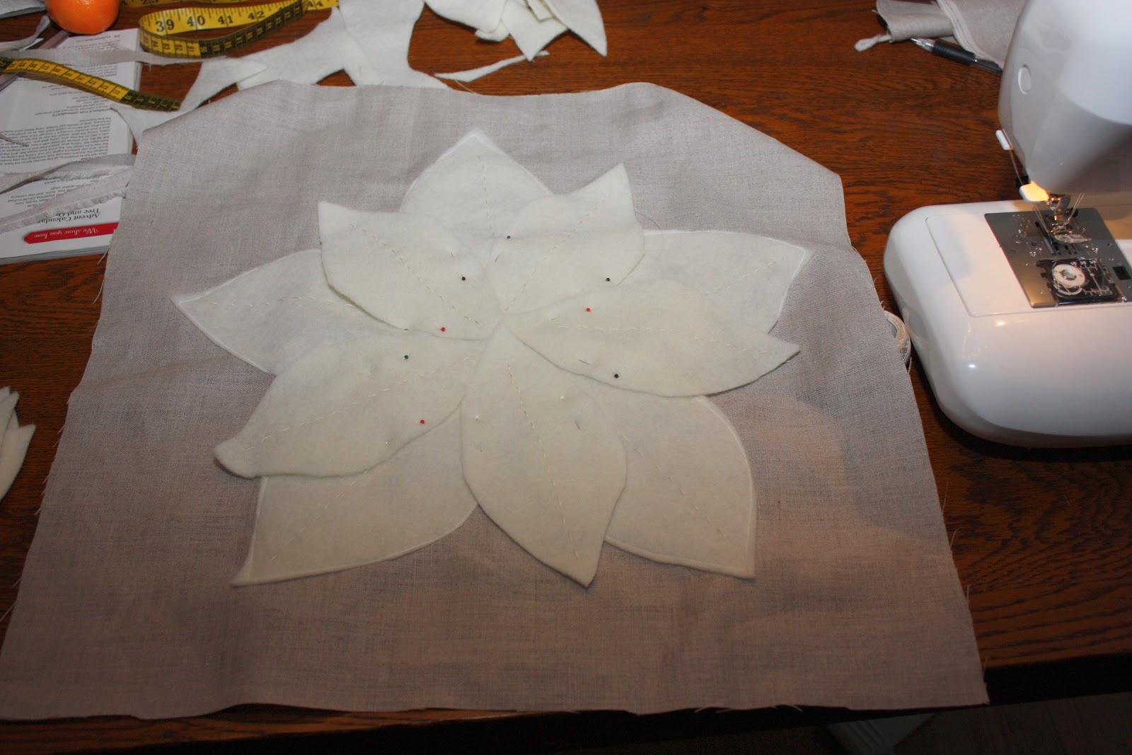Groovy Times Diy Pottery Barn Poinsettia Pillow