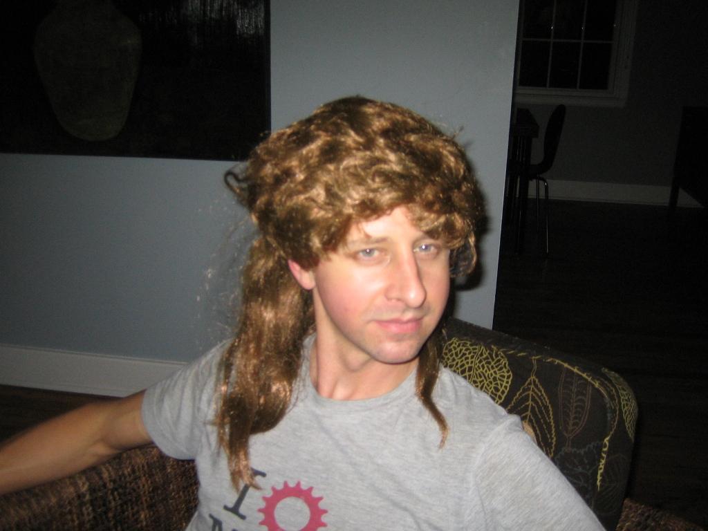 High Quality Honey Blonde Mullet Hair Wig Adult Male Joe Dirt 1980/'s 80/'s Rocker