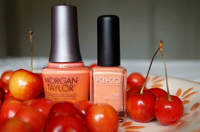 "KIKO 359 и Morgan Taylor ""Candy Coated Coral"""