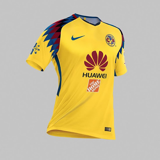 outlet store 70050 b1ffc Stunning Nike Club America 2018 Third Kit Released - Footy ...