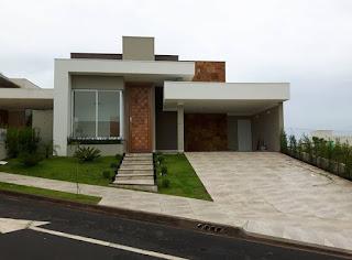 แบบบ้านชั้นเดียวตกแต่งหิน