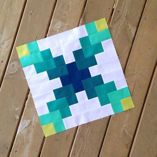 The Irish Chain Modern Block Free Quilt Pattern