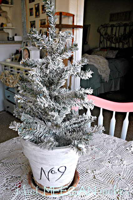Under $3 DIY Flocked Christmas Tree