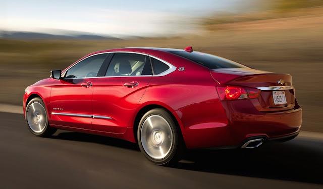 2016 Chevrolet Impala red rear