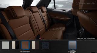Nội thất Mercedes GLE 400 4MATIC 2018 màu Nâu Saddle (224)