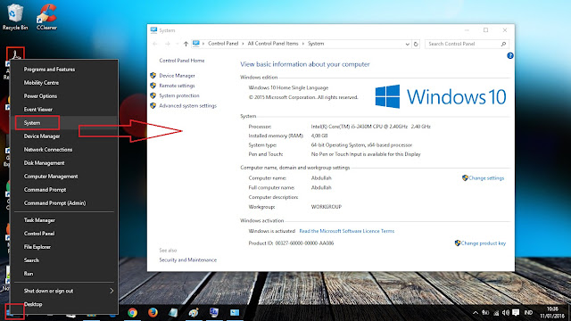cara cepat cek spesifikasi laptop operating system windows 10