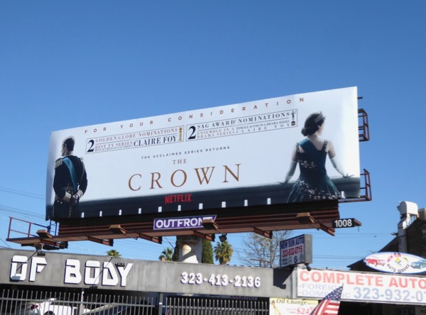 Crown season 2 awards nominations billboard