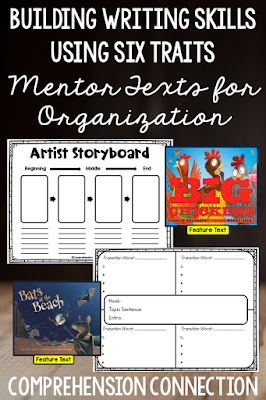 Using mentor texts to work on organization helps students pattern their work after quality literature. In this post, these two titles are featured using these free printables.
