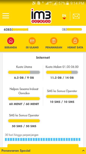 Cara Cek Kuota Internet Indosat Ooredoo 13