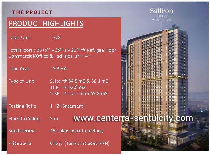 Apartemen Saffron Sentul City
