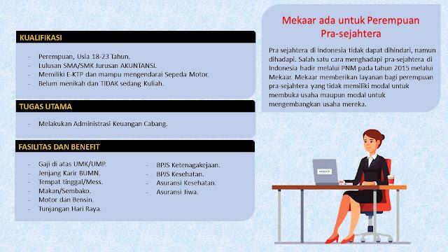 Lowongan Kerja Finance & Administration Officer PT. PNM (Persero)