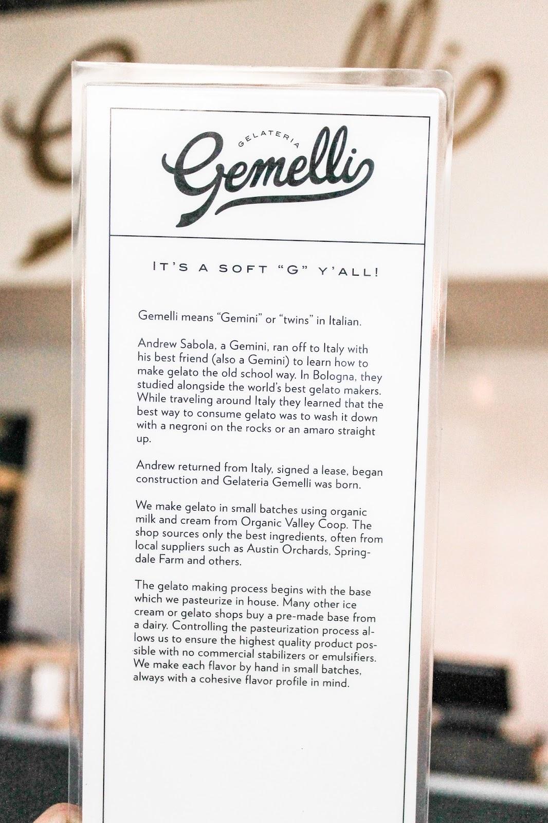 Gelateria Gemelli in Austin, TX | www.thebellainsider.com