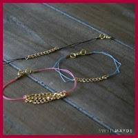 Pulsera con cadena y cordón