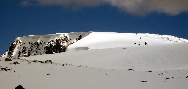 Ben Nevis summit plateau winter