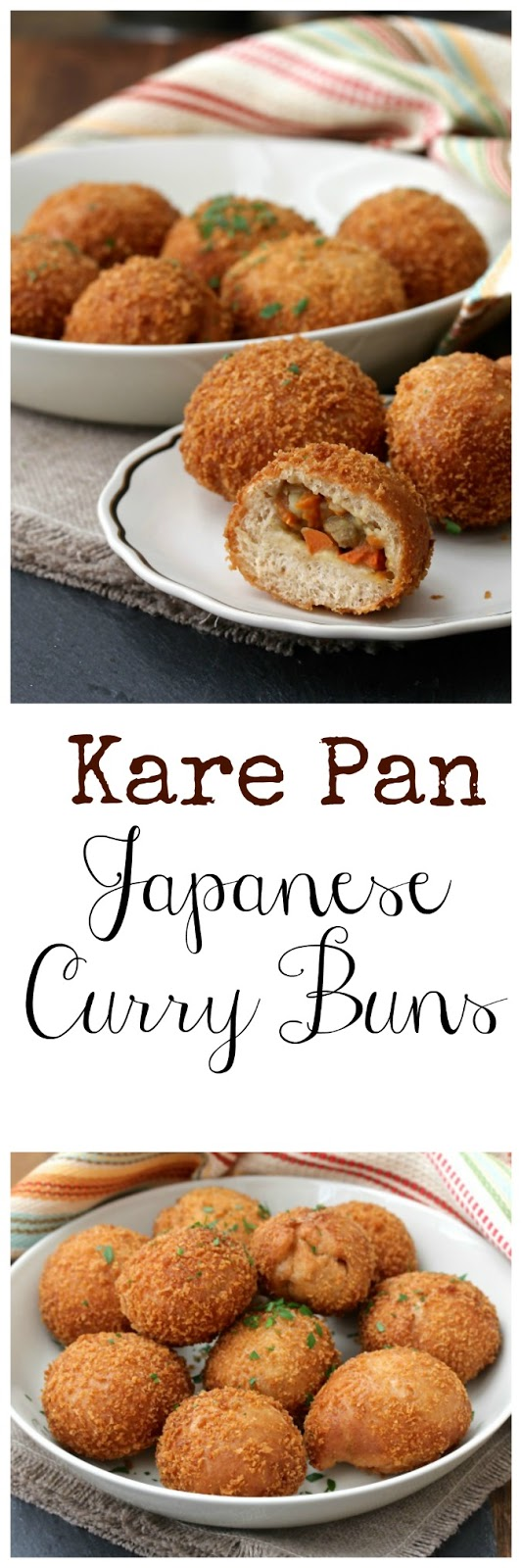 These Kare Pan, or Curry Buns, consist of Japanese curry wrapped in ...