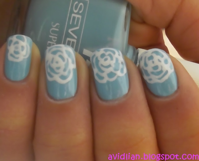 aviDliaN: Simple Rose Nail Art