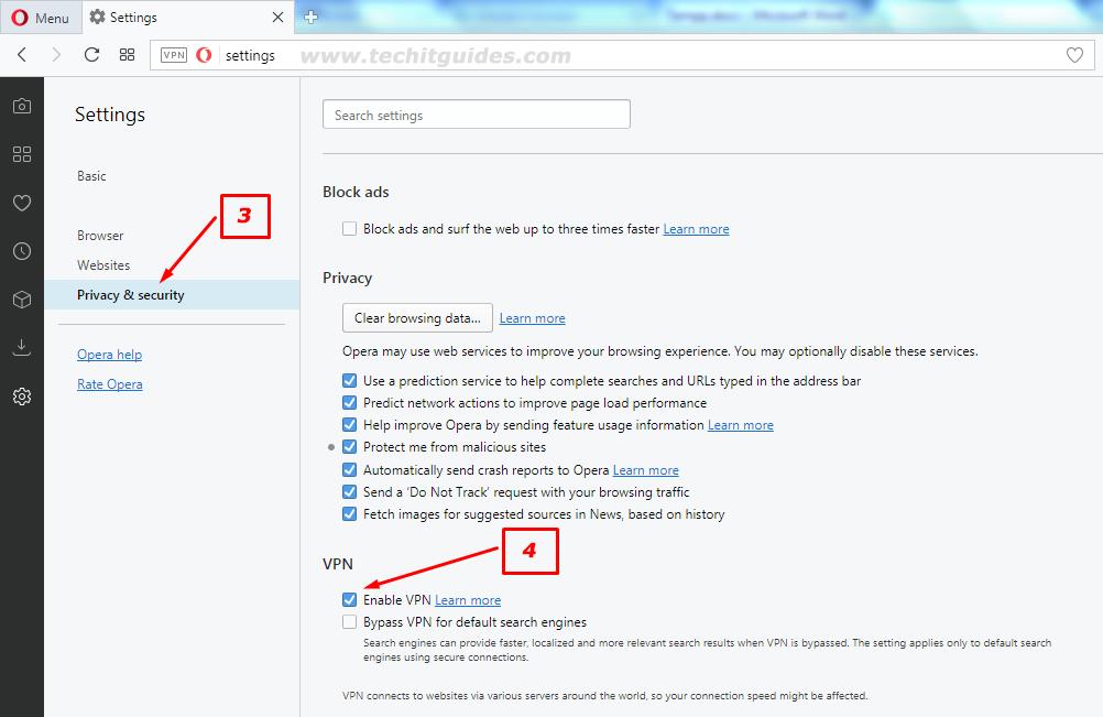 Opera Browser Built-in Unlimited Free VPN - Secure Internet
