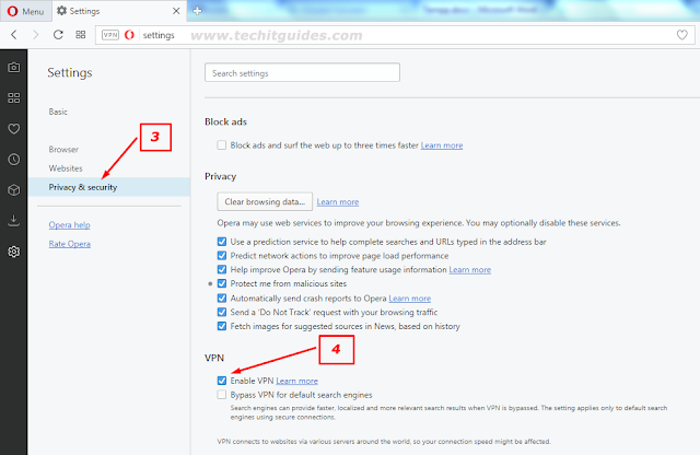 Click-Privacy-&-security-on-the-right-sidebar-to-Enable-Opera-VPN