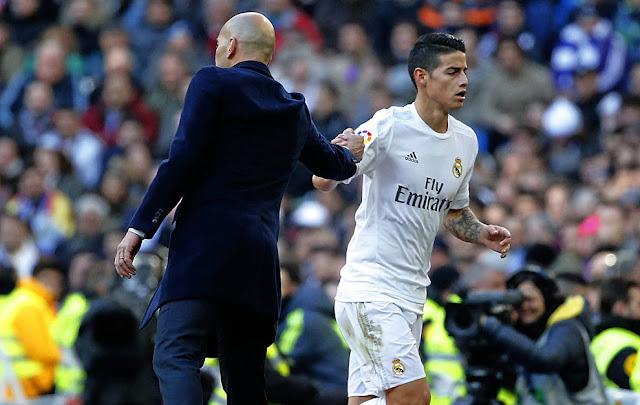 Zidane da un consejo a James Rodríguez y analiza la actualidad del Real Madrid