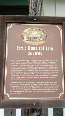 fort christmas historical park partin house plaque