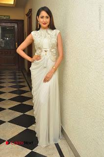 Actress Pragya Jaiswal Stills in Beautiful White Dress at turodu Audio Launch  0056.JPG