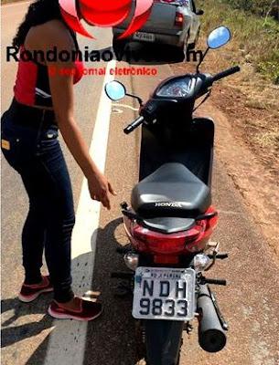 Adolescente é flagrada levando moto roubada para garimpo no Araras