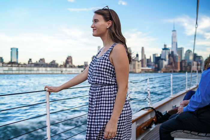 Sailing on the Hudson, NYC River Cruises, Maison Jules Gingham Dress