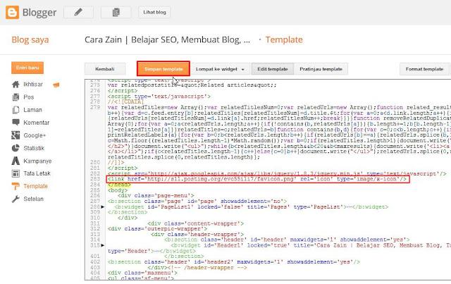 Cara Mengganti Favicon Di Blog Pada Blogger Terbaru