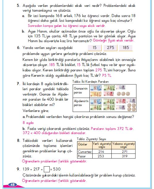 3. Sınıf Berkay Yayınları Matematik Çalışma Kitabı 8. Sayfa Cevapları Problem Çözelim ve Kuralım 2. Çalışma