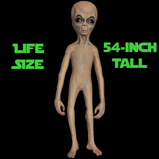 Life Size ALIEN LATEX PROP Xfiles UFO Haunted House Decoration
