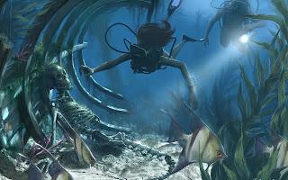 Amazing underwater scene hq wallpapers