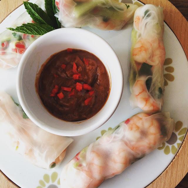 Vietnamese Spring Rolls, Tesco Spring Rolls Kit, Gingey Bites