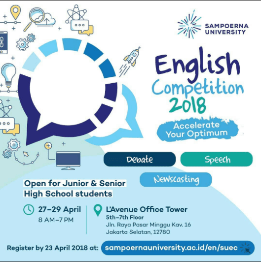 Lomba English Competition Sampoerna University 2018
