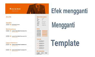 Sebab dan akibat mengganti template blog