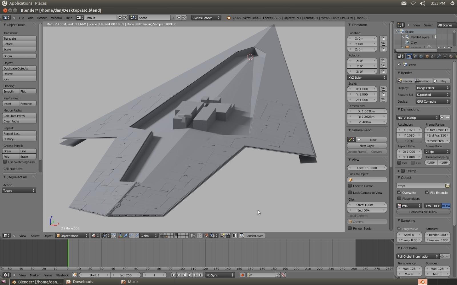 Dan Brown CGI | Sci-fi Art: Super Star Destroyer, Day One