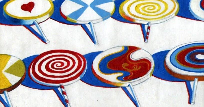 Art Inklings Wayne Thiebaud Inspired Lollipops