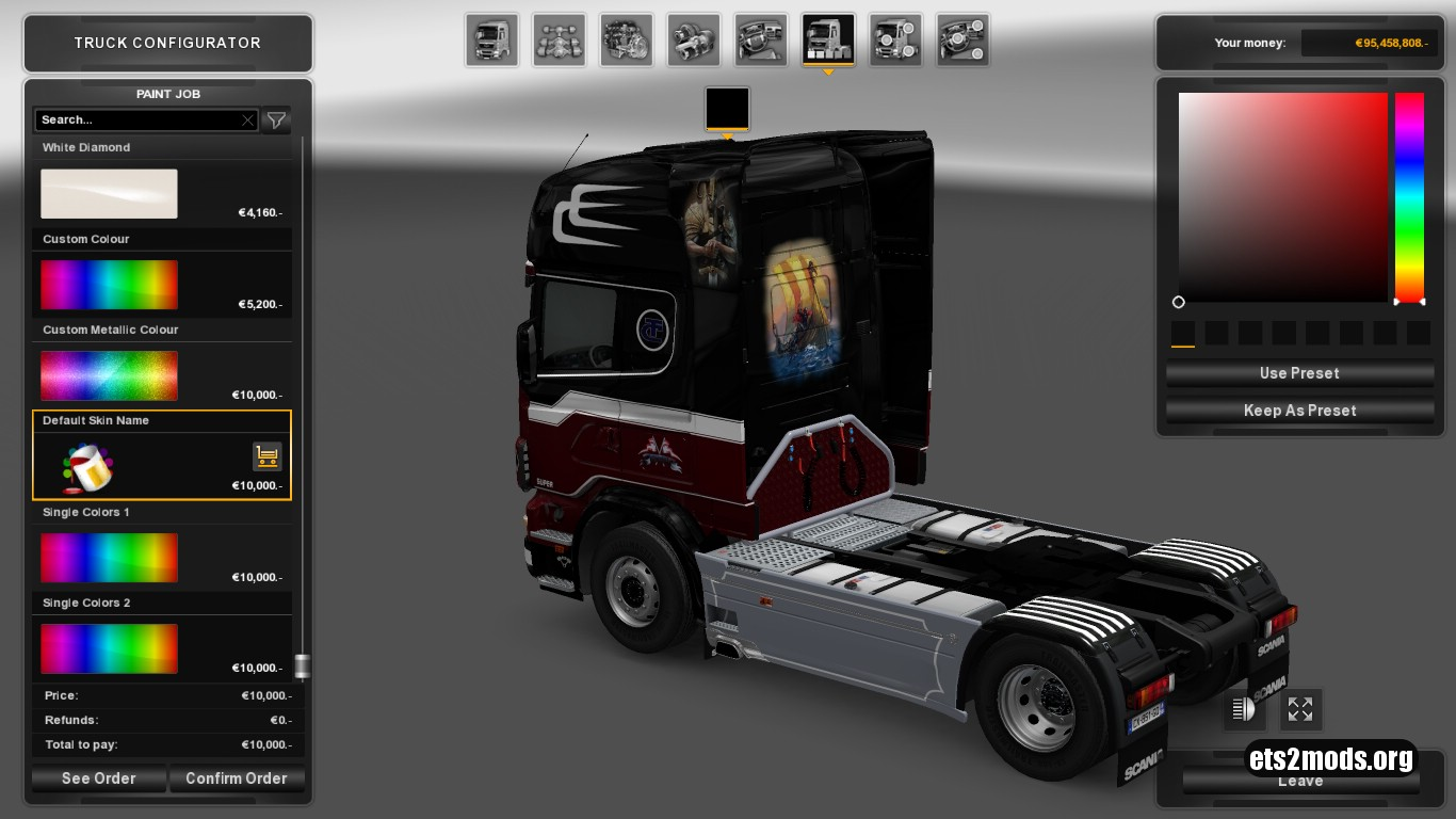 Ronny Ceusters Skin for Scania 4 Series