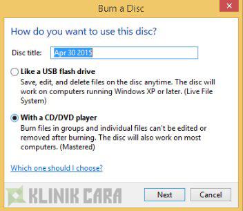 Cara Burn CD dengan Mudah