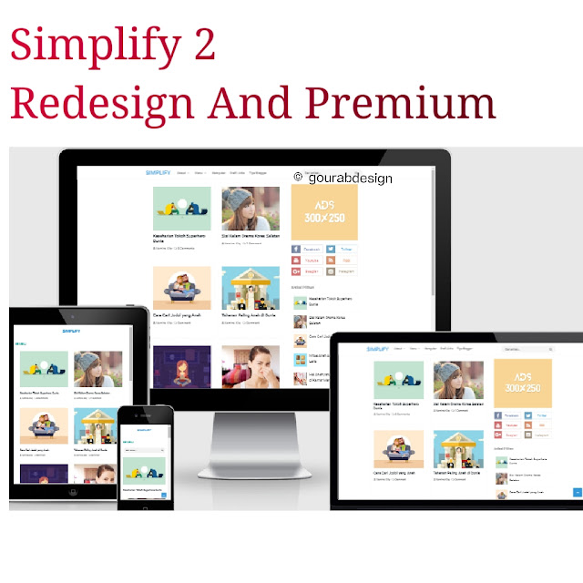 Simplify 2 redesign premium blogger template
