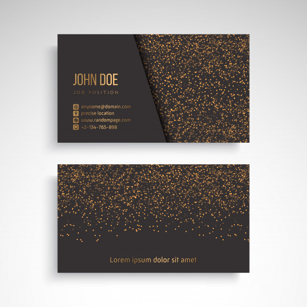 Business Card with vintage decorative elements Free Vector
