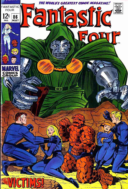 Fantastc Four v1 #85 marvel 1960s silver age comic book cover art by Jack Kirby
