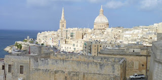 La Valletta desde los Hasting Gardens.
