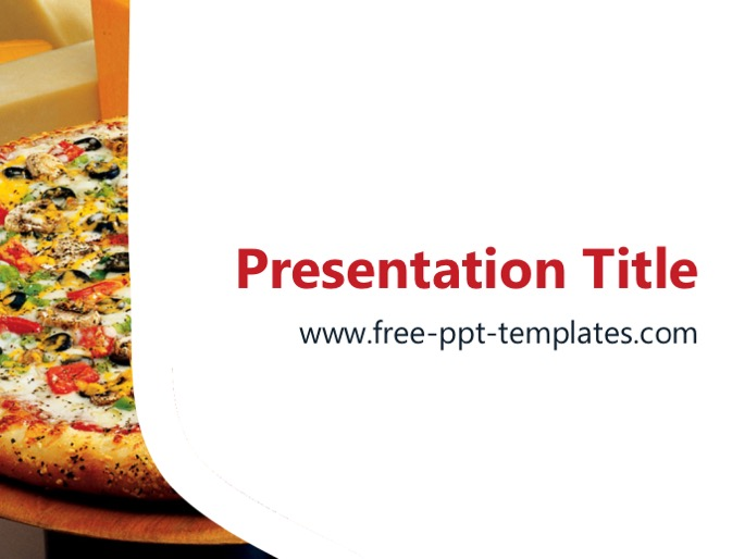 pizza ppt template, Modern powerpoint