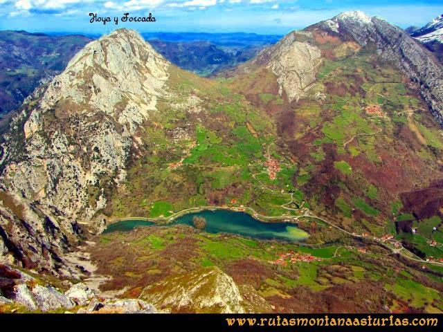 Ruta al Pico Gorrión: Vista de la Hoya y la Forcada