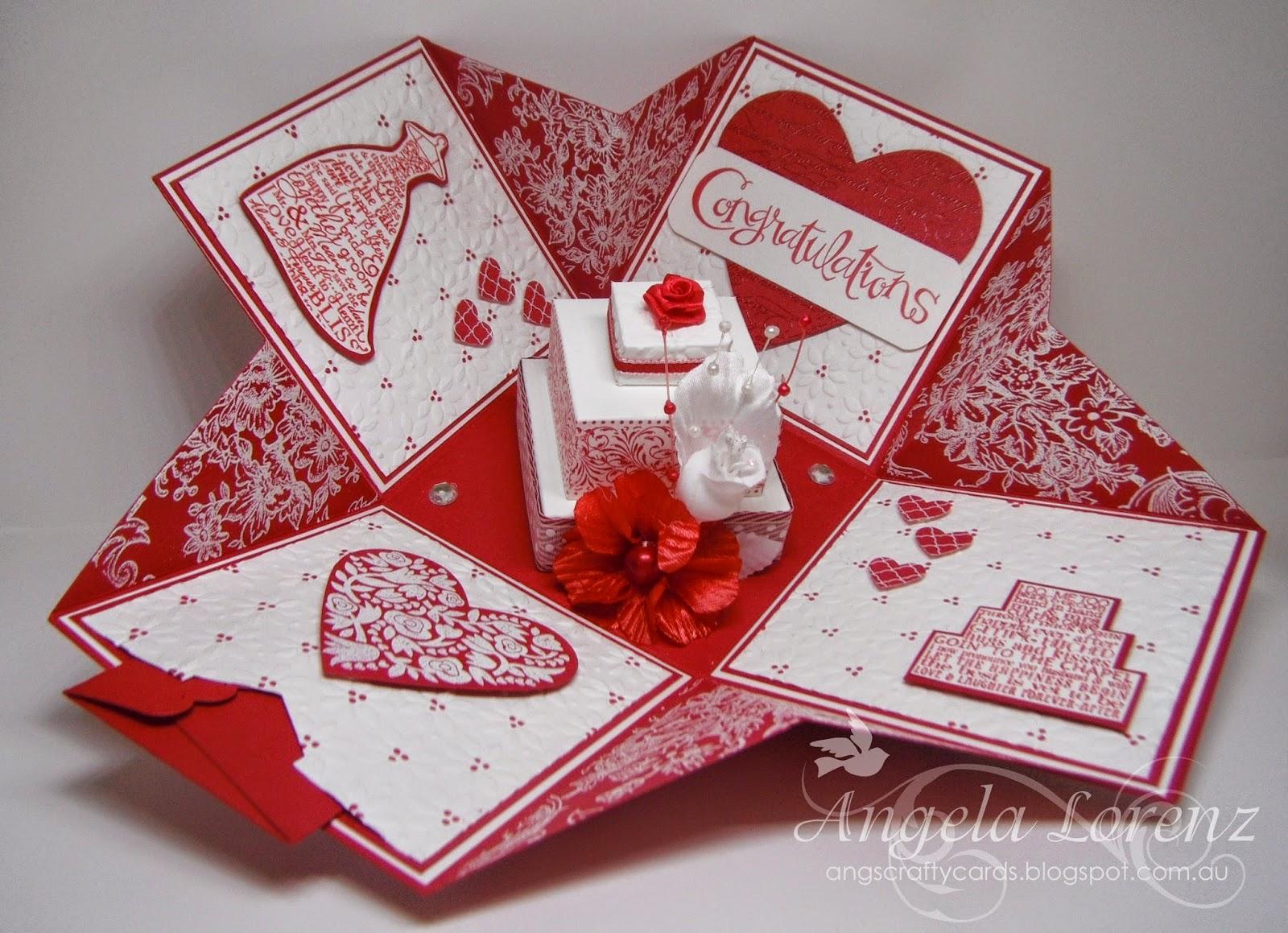 angela lorenz wedding exploding box card