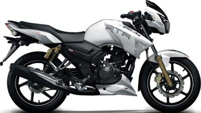 TVS Apache RTR 160 white side look