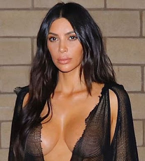 Kim Kardashian Dressed almost Naked in Net to a Dinner Date with Kanye West