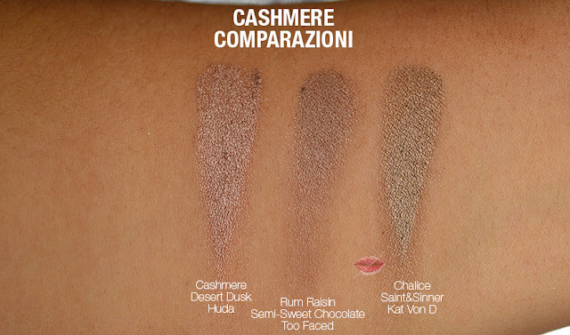 swatch dupe cashmere huda beauty desert dusk