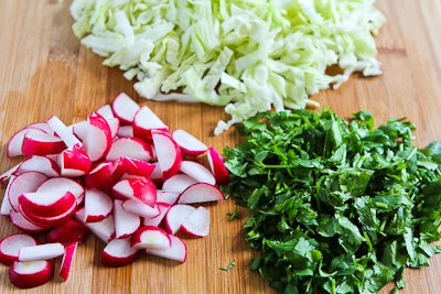 Vietnamese Cabbage Salad with Chicken and Cilantro found on KalynsKitchen.com