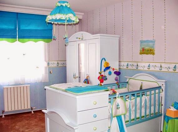 Dormitorio para bebé luminoso